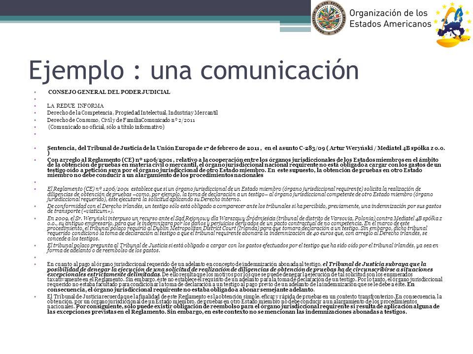 Ejemplo : una comunicación