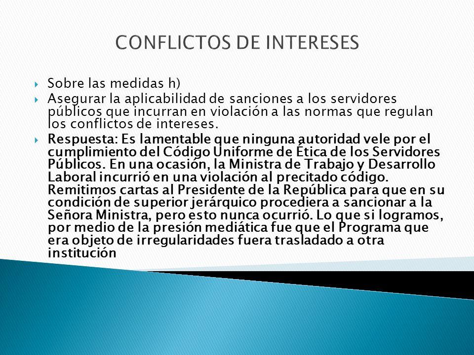 CONFLICTOS DE INTERESES