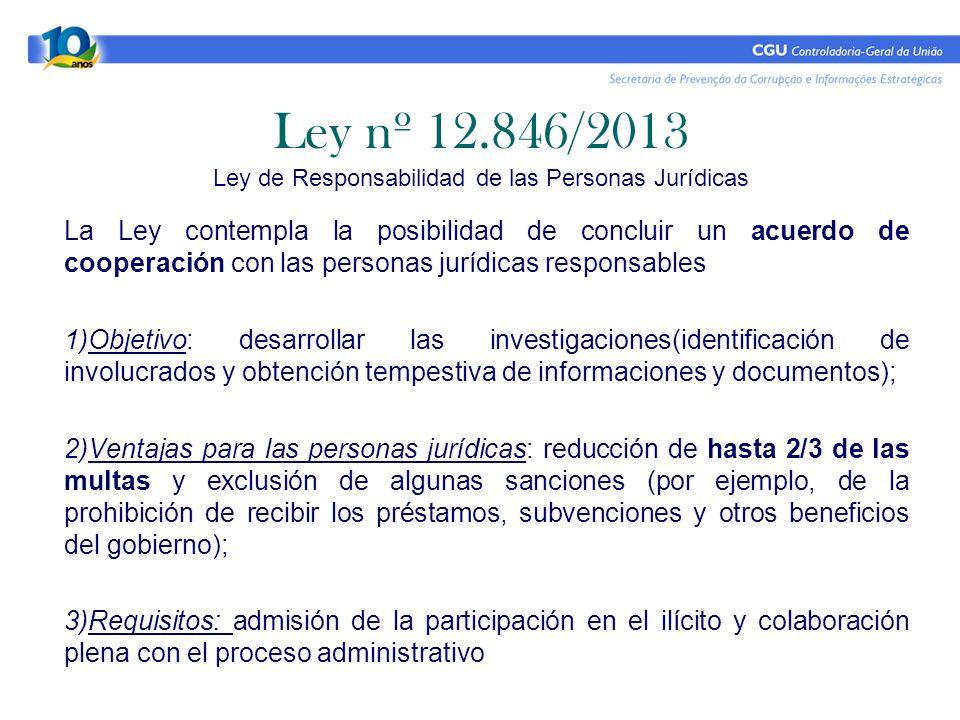 Ley nº 12.846/2013 Ley de Responsabilidad de las Personas Jurídicas