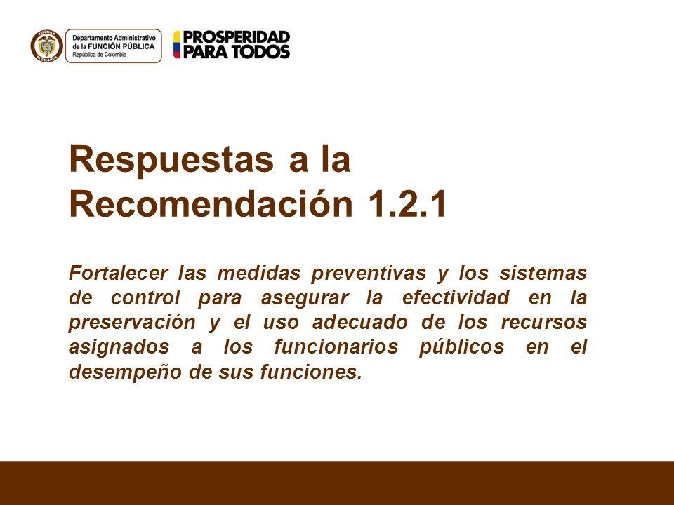 Respuestas a la Recomendación 1.2.1