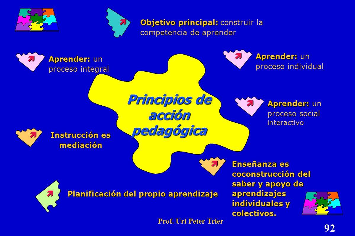 Principios de acción pedagógica