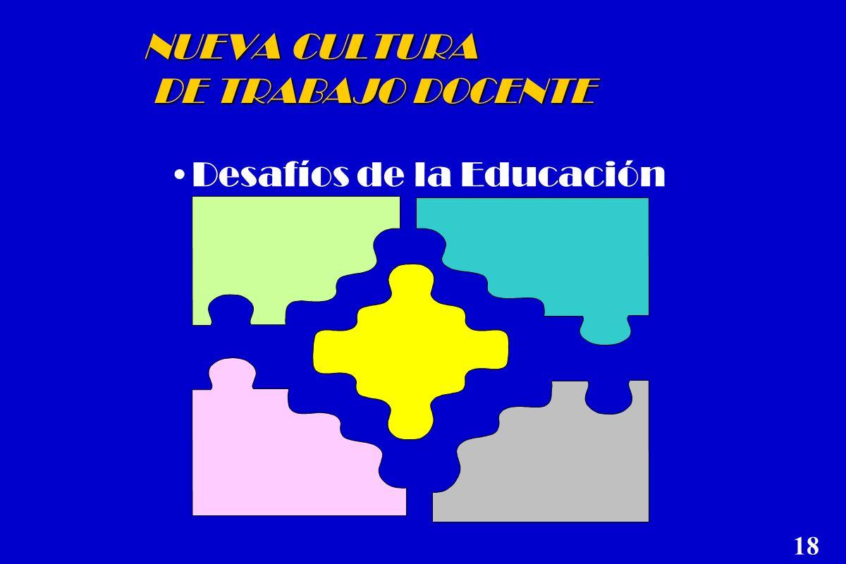 NUEVA CULTURA DE TRABAJO DOCENTE