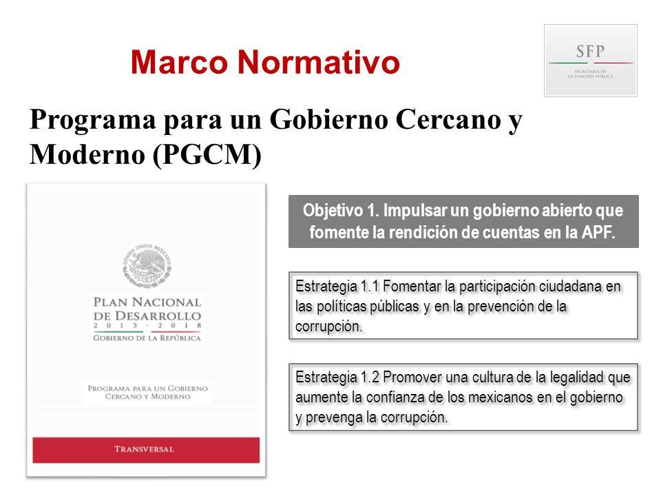 Marco Normativo Programa para un Gobierno Cercano y Moderno (PGCM)