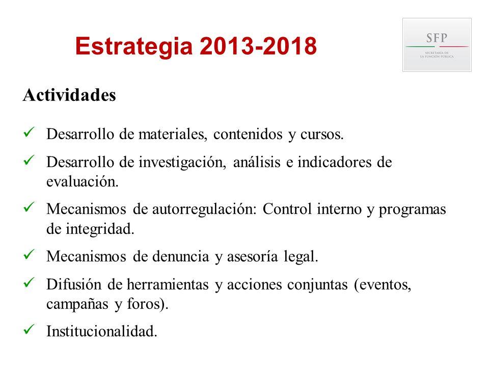 Estrategia 2013-2018 Actividades