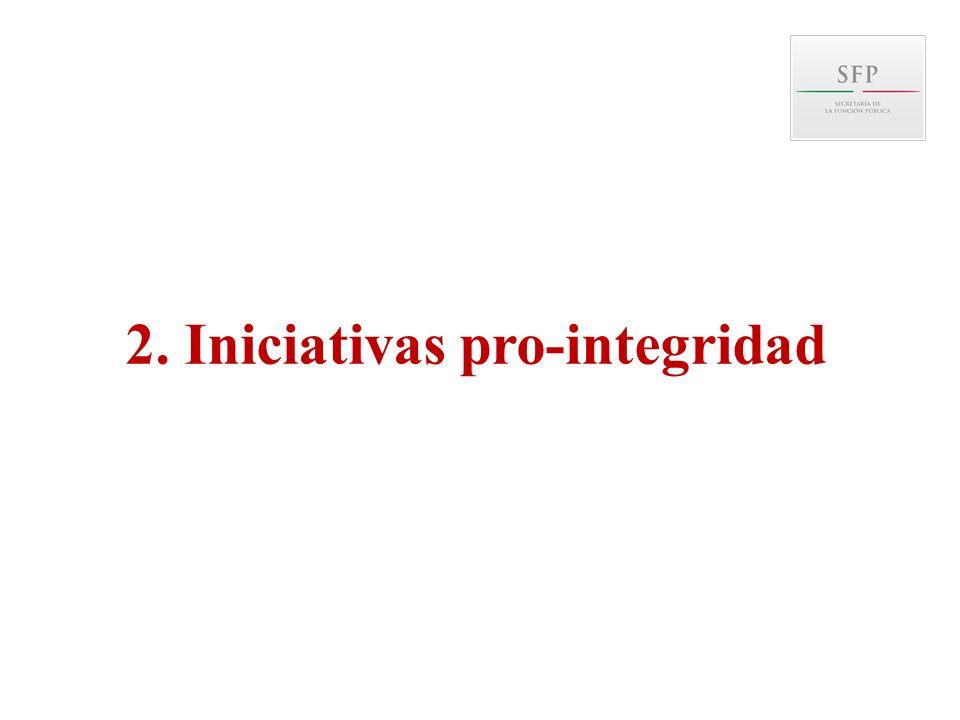 2. Iniciativas pro-integridad