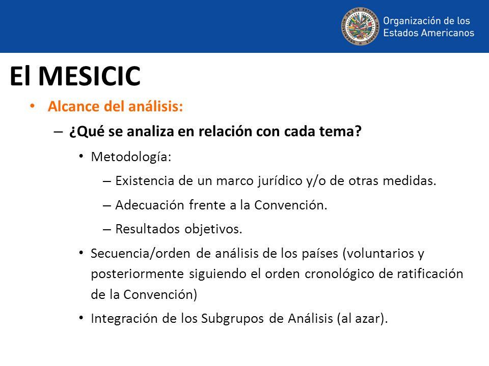El MESICIC Alcance del análisis: