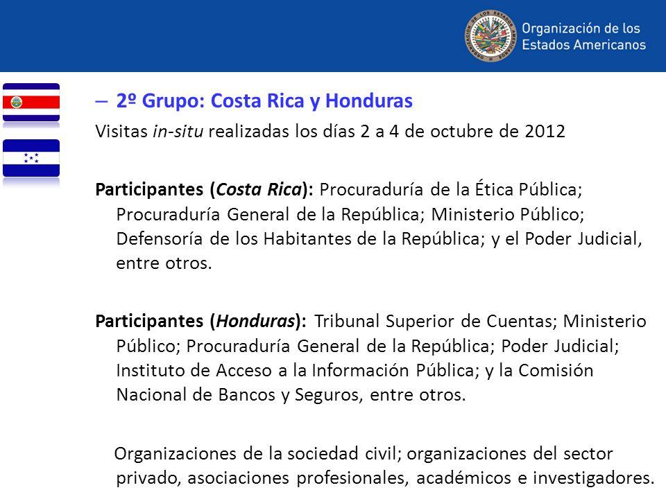 2º Grupo: Costa Rica y Honduras