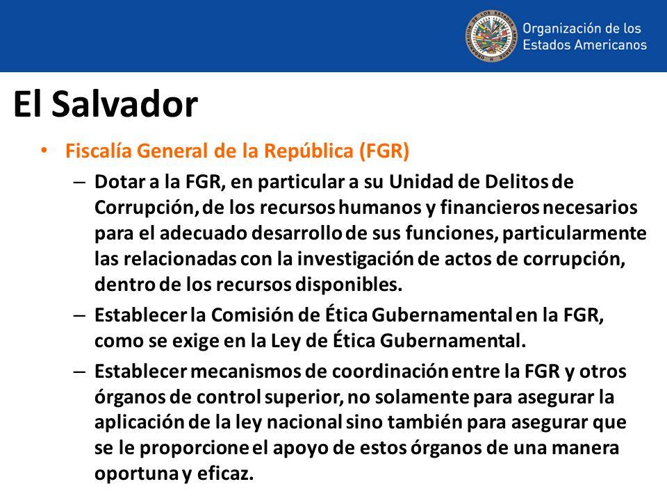 El Salvador Fiscalía General de la República (FGR)