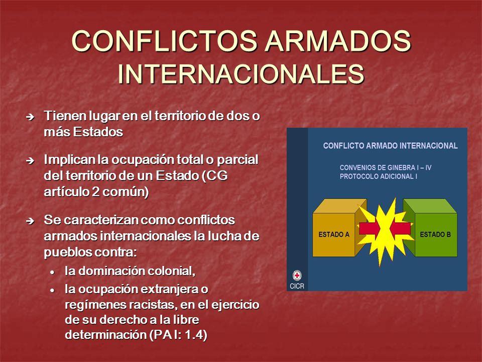 CONFLICTOS ARMADOS INTERNACIONALES