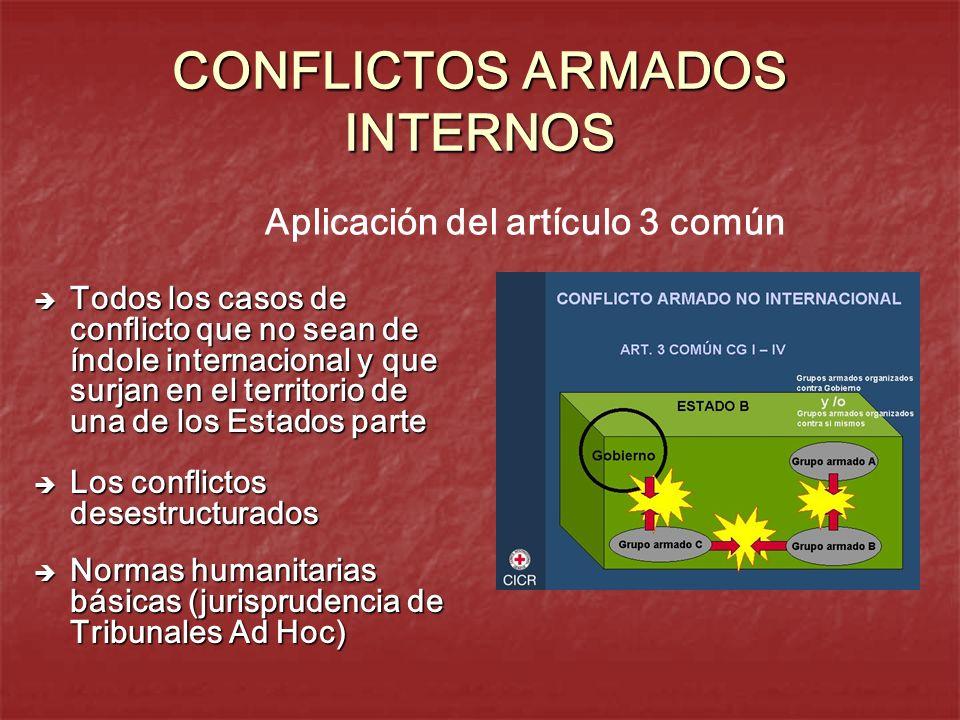 CONFLICTOS ARMADOS INTERNOS