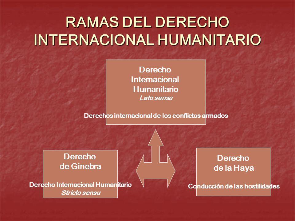RAMAS DEL DERECHO INTERNACIONAL HUMANITARIO