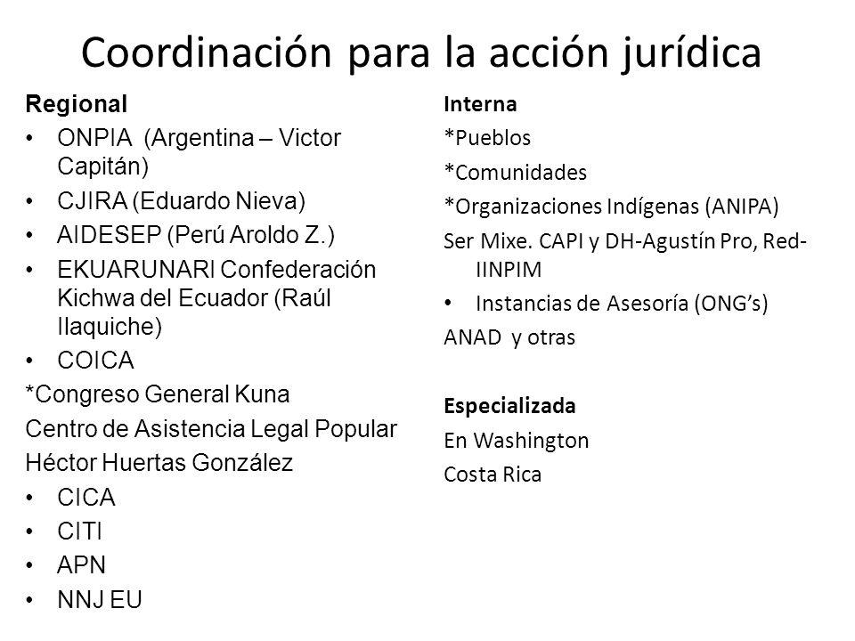 Coordinación para la acción jurídica