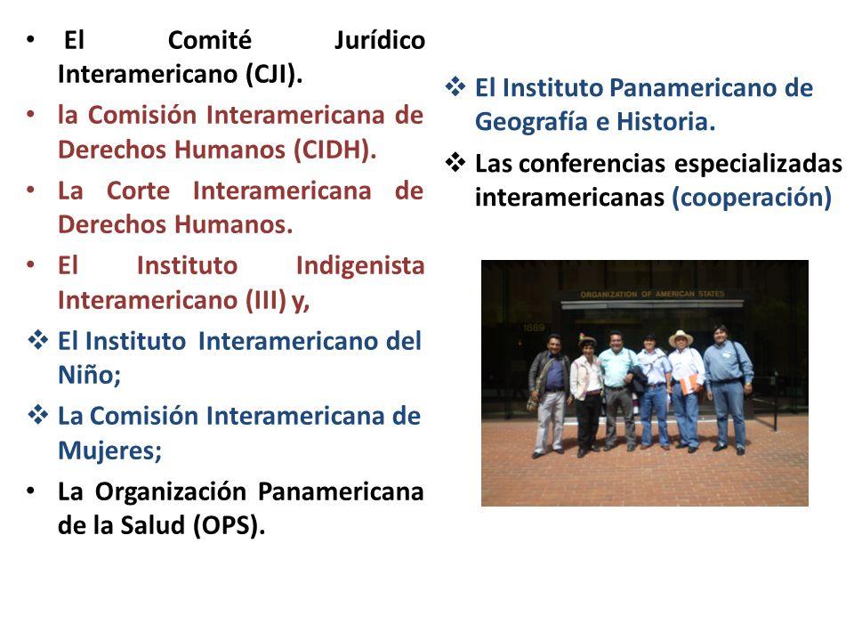 El Comité Jurídico Interamericano (CJI).
