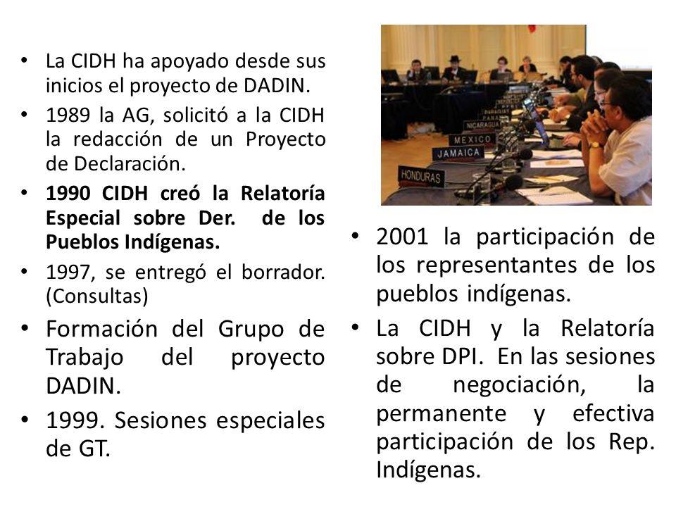 Formación del Grupo de Trabajo del proyecto DADIN.