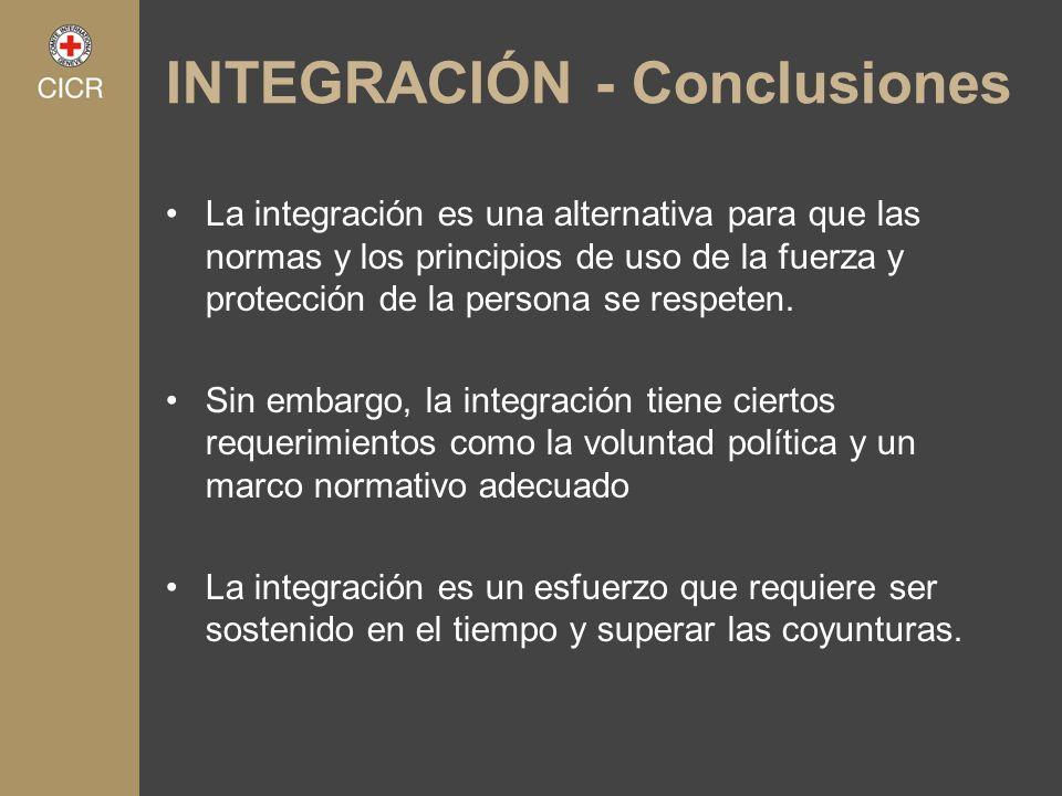 INTEGRACIÓN - Conclusiones