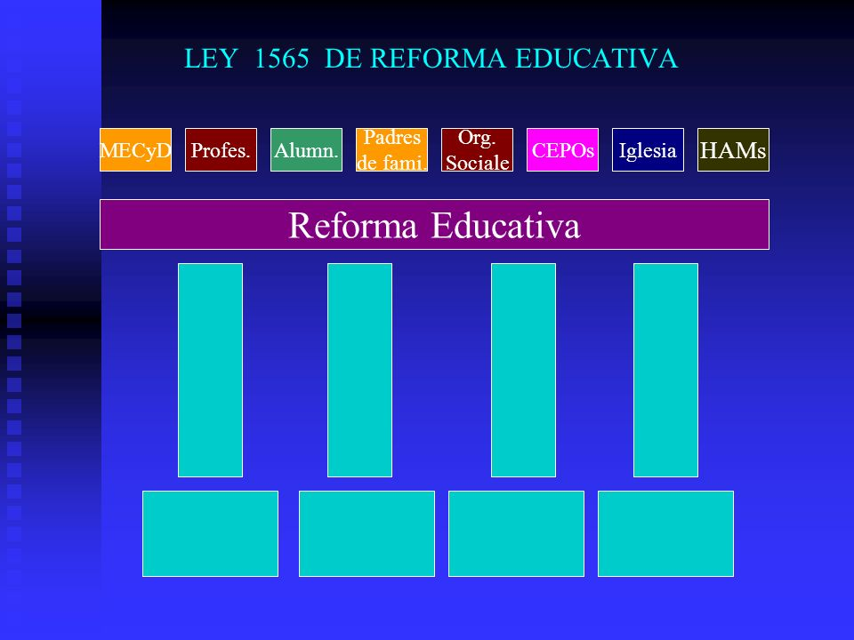 LEY 1565 DE REFORMA EDUCATIVA