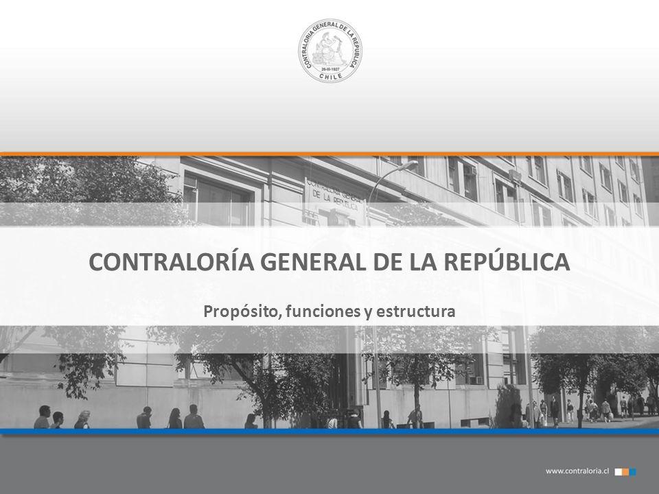 CONTRALORÍA GENERAL DE LA REPÚBLICA Propósito, funciones y estructura
