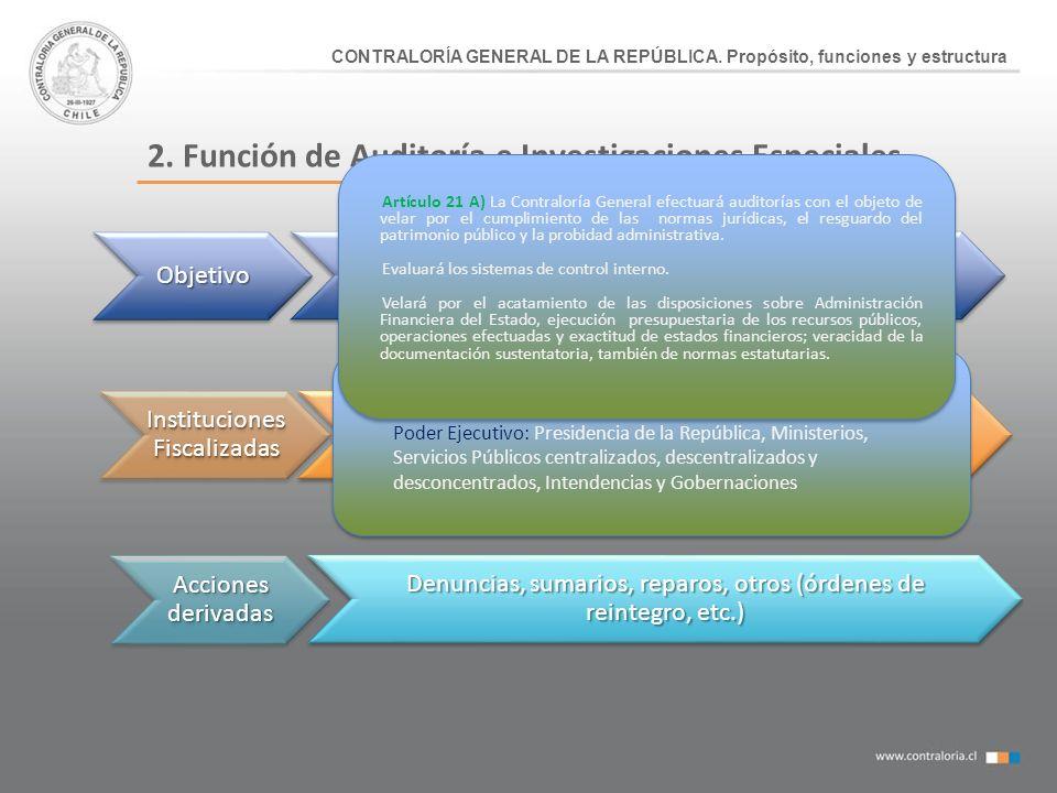 2. Función de Auditoría e Investigaciones Especiales
