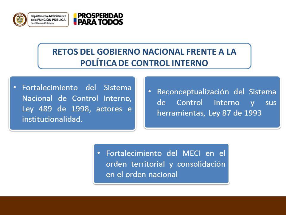 RETOS DEL GOBIERNO NACIONAL FRENTE A LA POLÍTICA DE CONTROL INTERNO