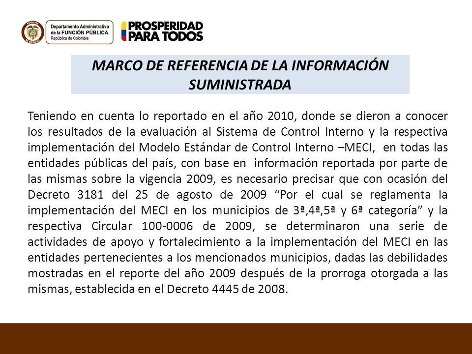 MARCO DE REFERENCIA DE LA INFORMACIÓN SUMINISTRADA