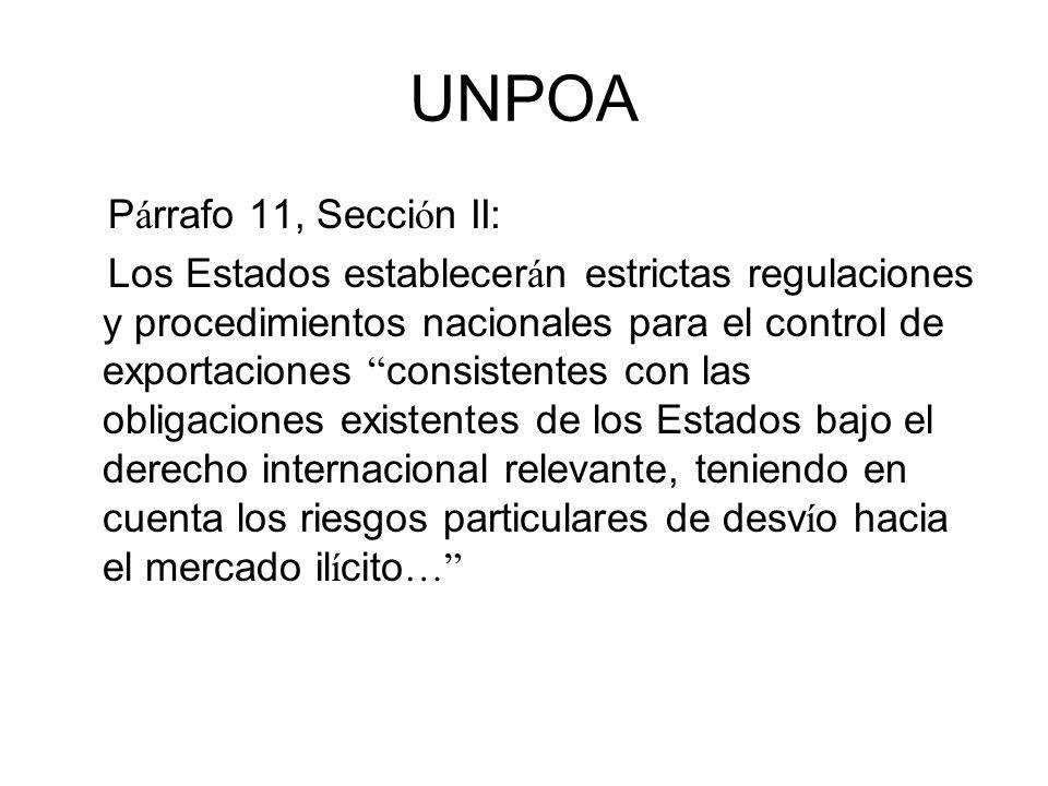 UNPOA Párrafo 11, Sección II: