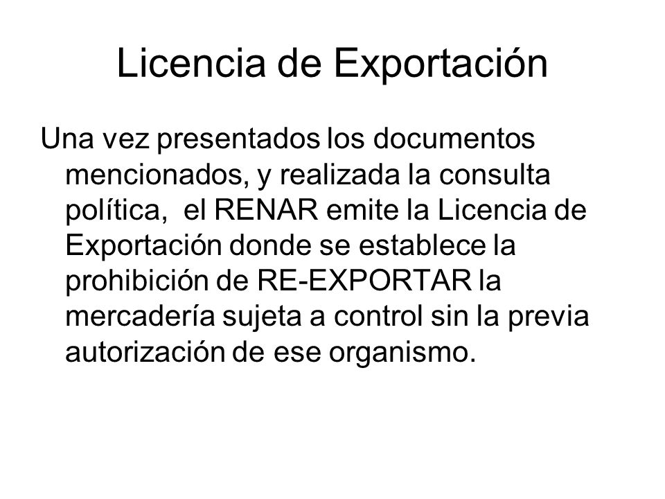 Licencia de Exportación