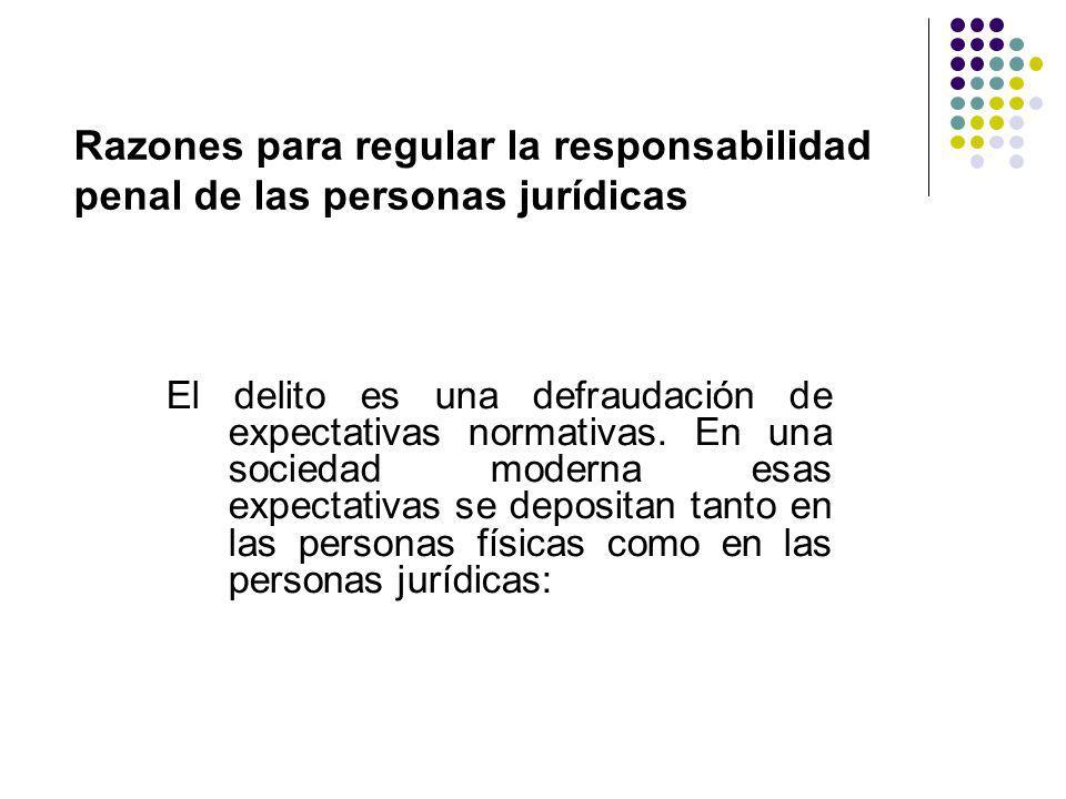 Razones para regular la responsabilidad penal de las personas jurídicas