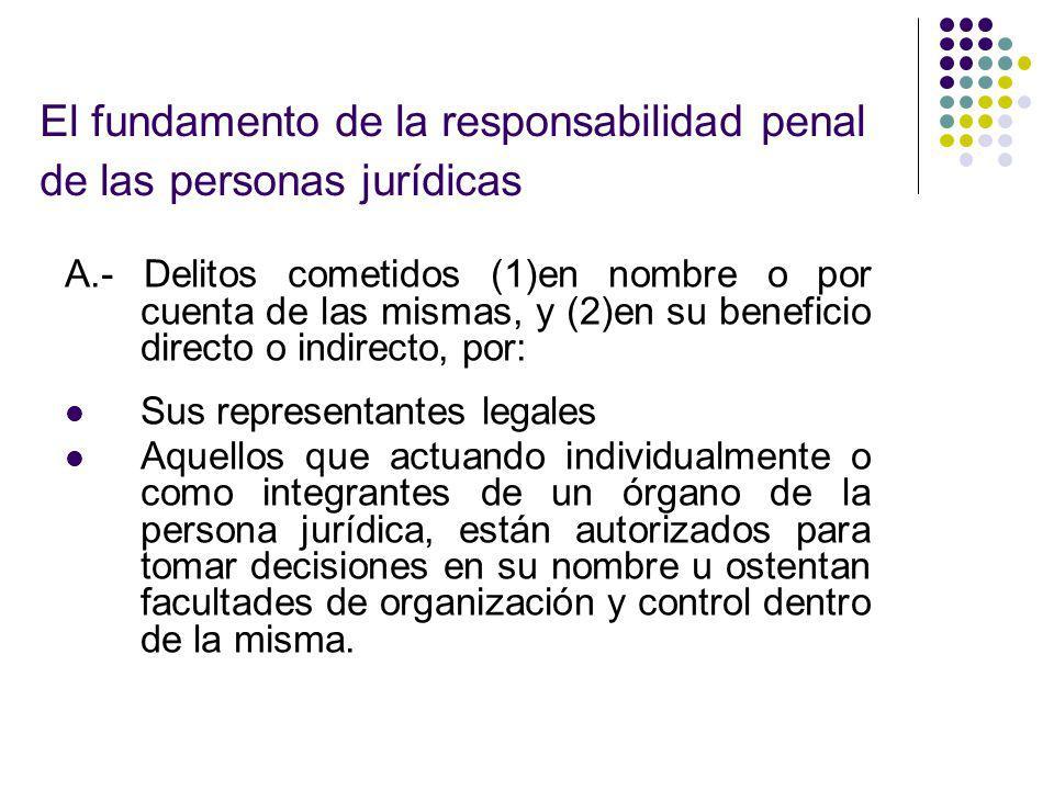 El fundamento de la responsabilidad penal de las personas jurídicas