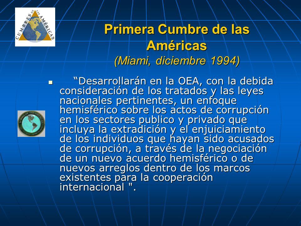 Primera Cumbre de las Américas (Miami, diciembre 1994)