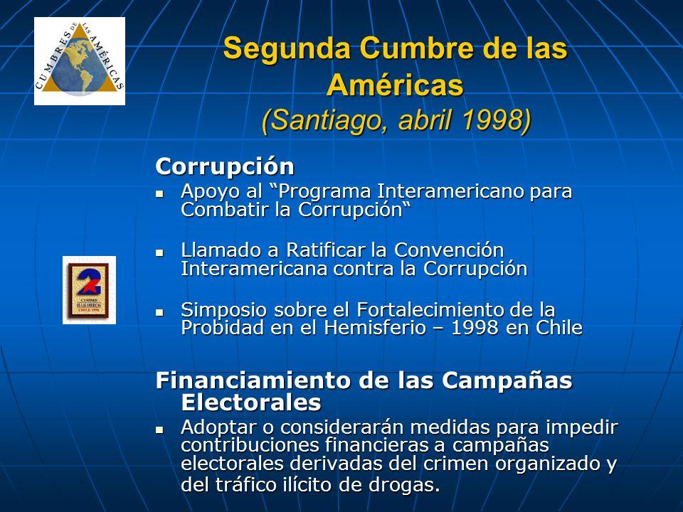 Segunda Cumbre de las Américas (Santiago, abril 1998)