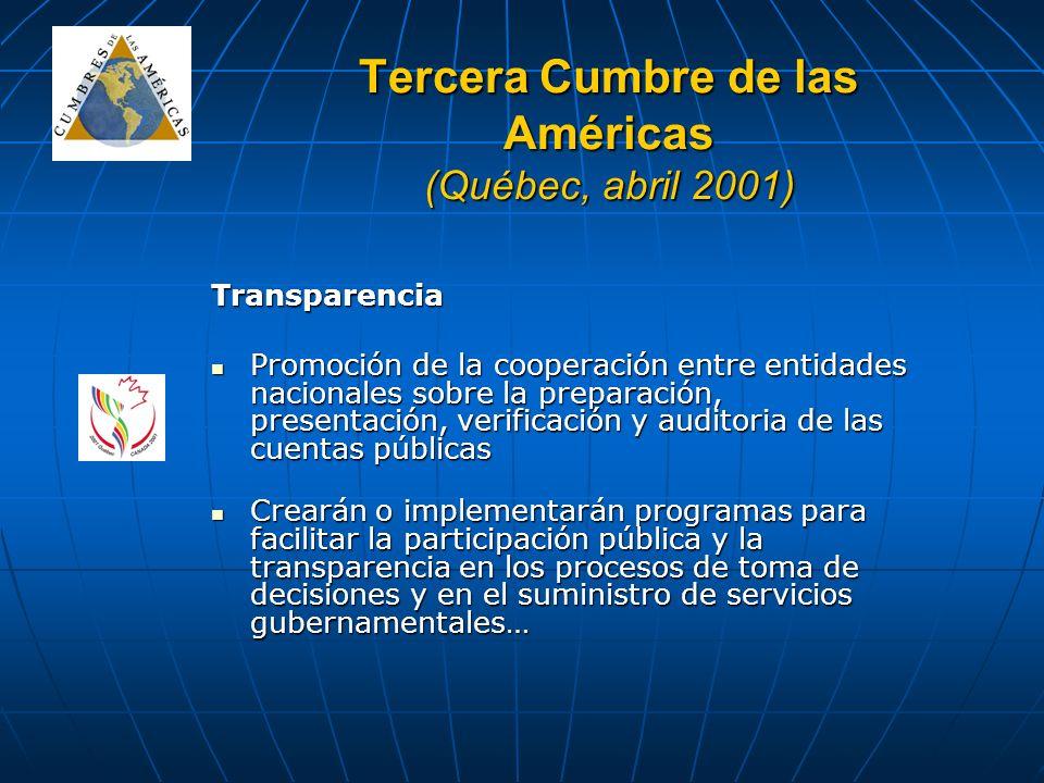 Tercera Cumbre de las Américas (Québec, abril 2001)