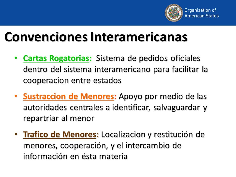 Convenciones Interamericanas