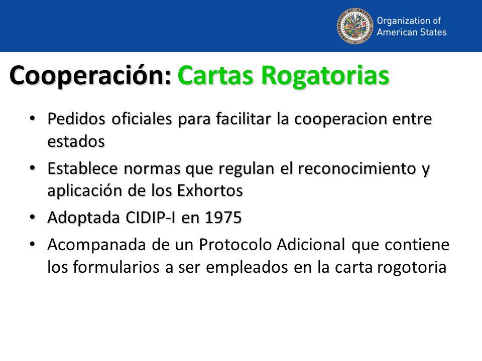 Cooperación: Cartas Rogatorias