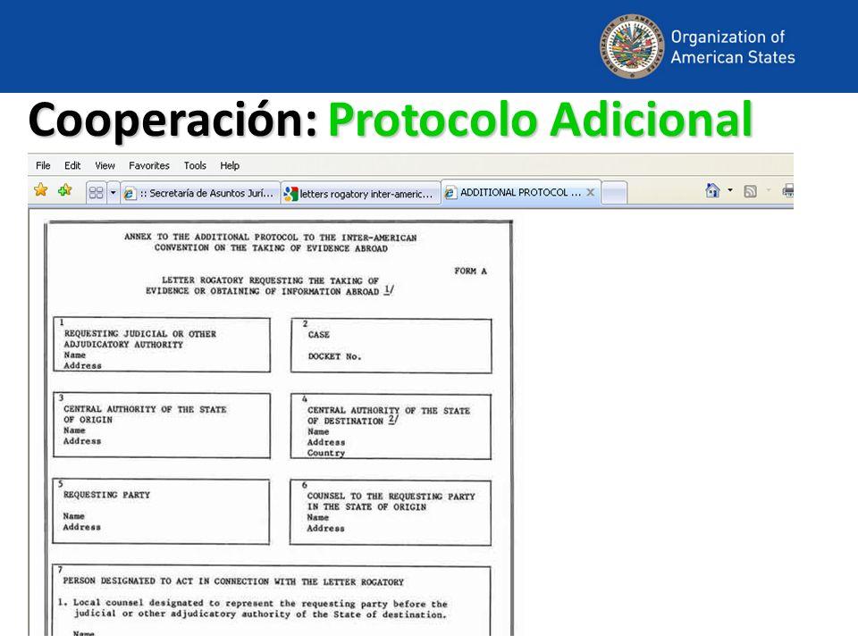 Cooperación: Protocolo Adicional
