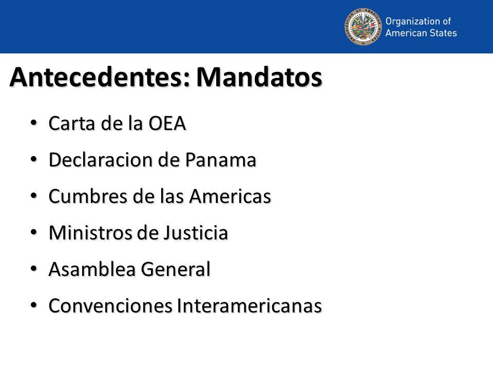 Antecedentes: Mandatos