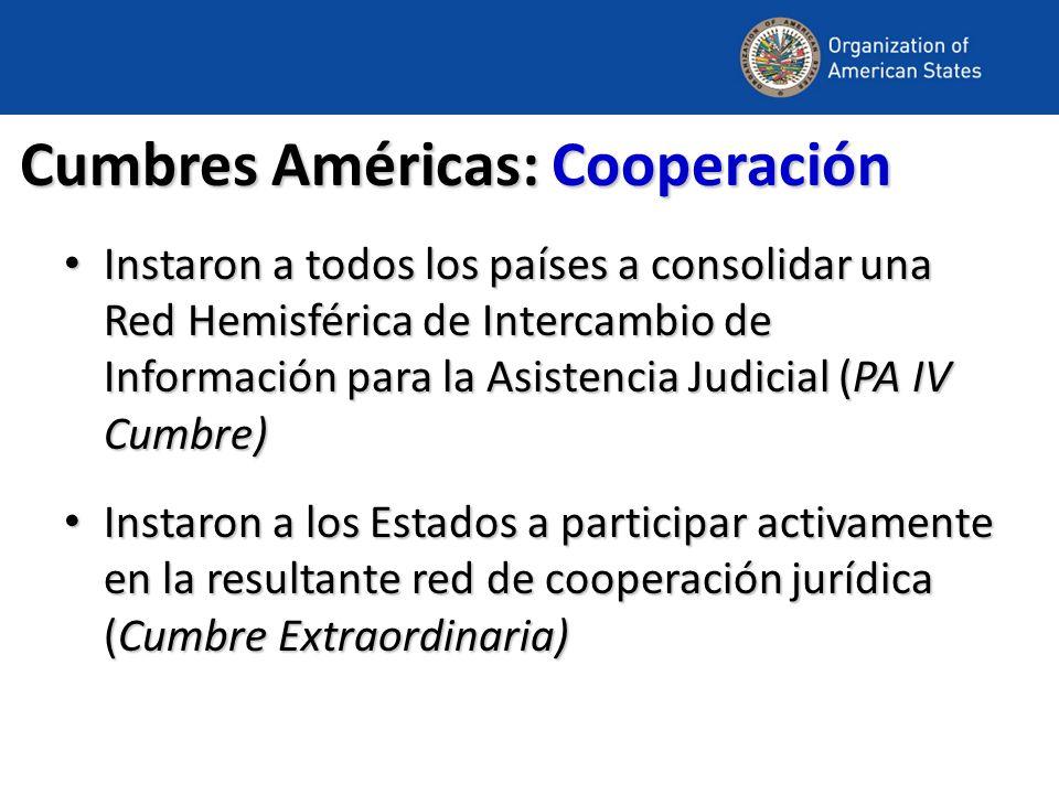 Cumbres Américas: Cooperación