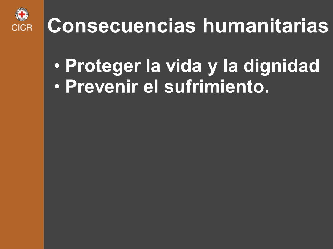 Consecuencias humanitarias