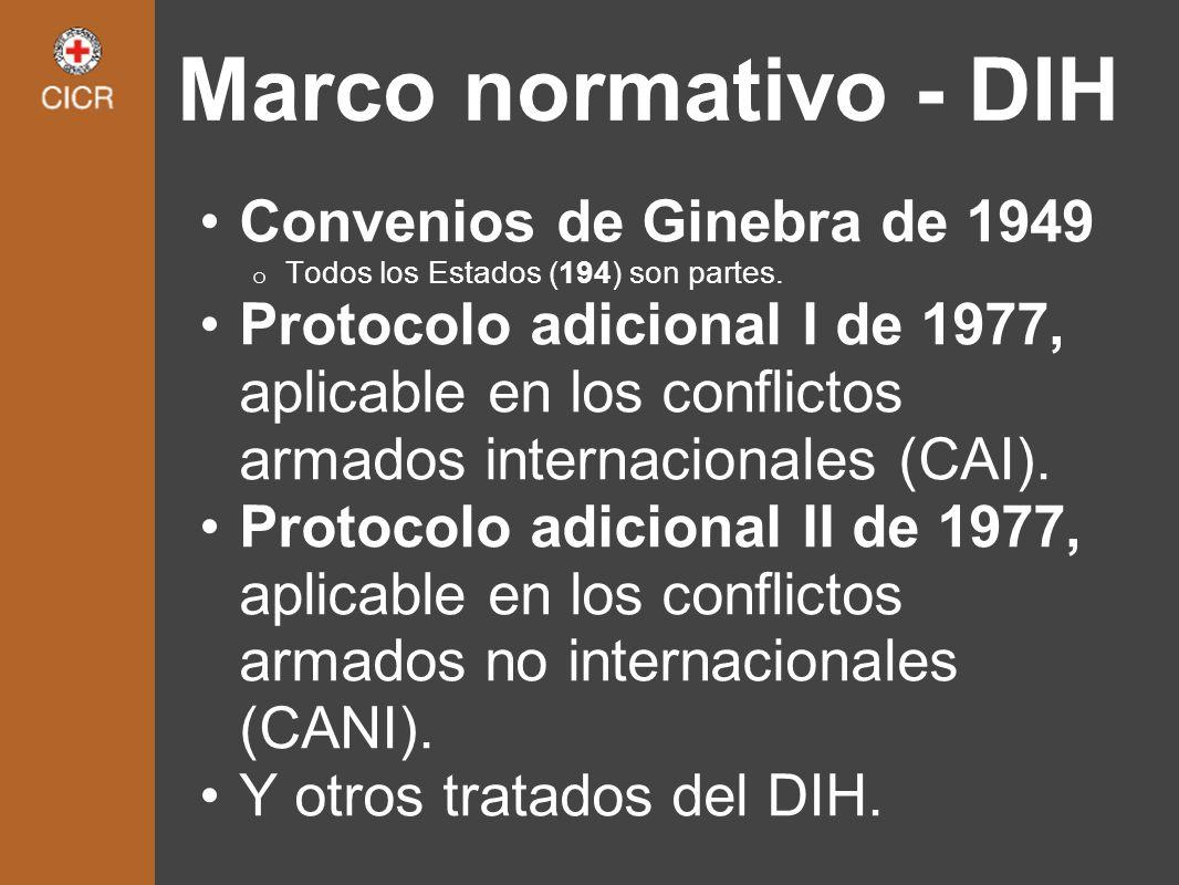 Marco normativo - DIH Convenios de Ginebra de 1949