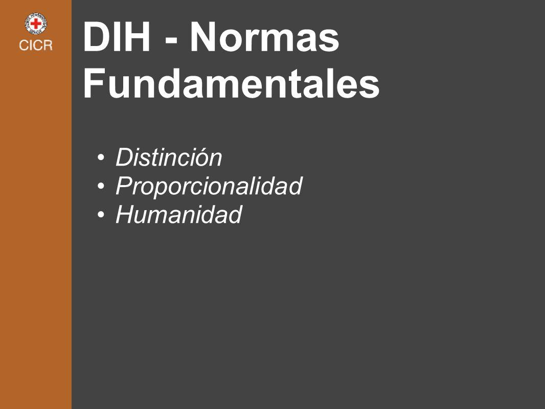 DIH - Normas Fundamentales