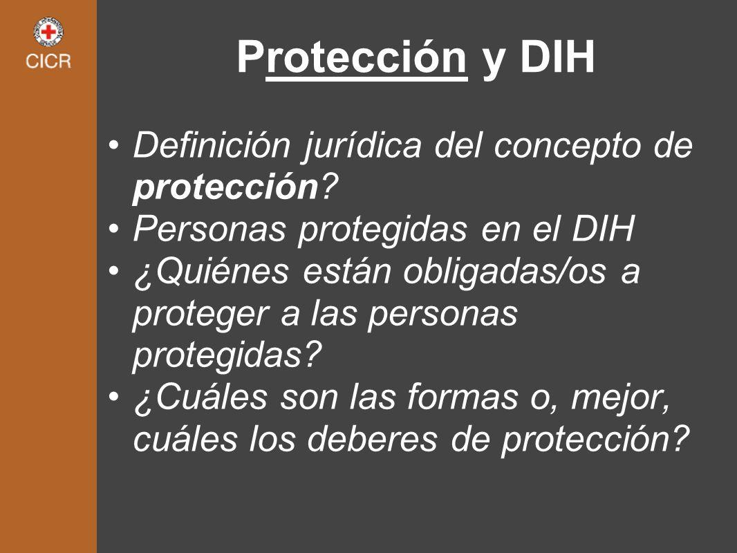Protección y DIH Definición jurídica del concepto de protección