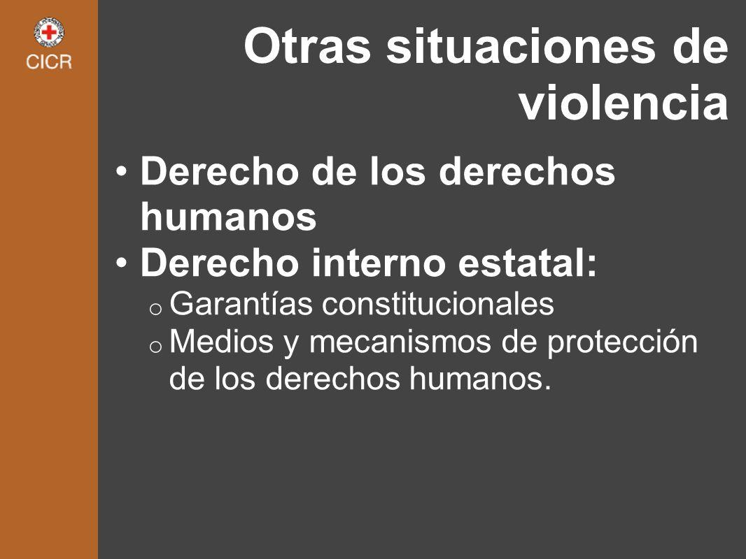 Otras situaciones de violencia
