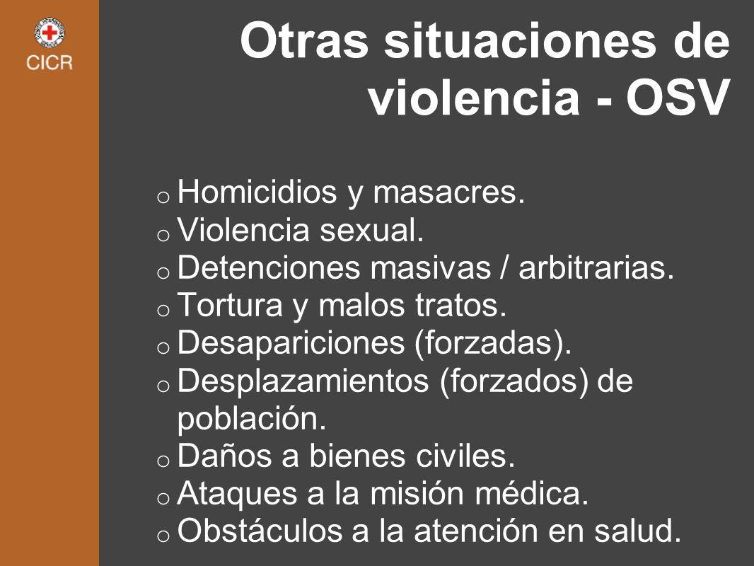 Otras situaciones de violencia - OSV