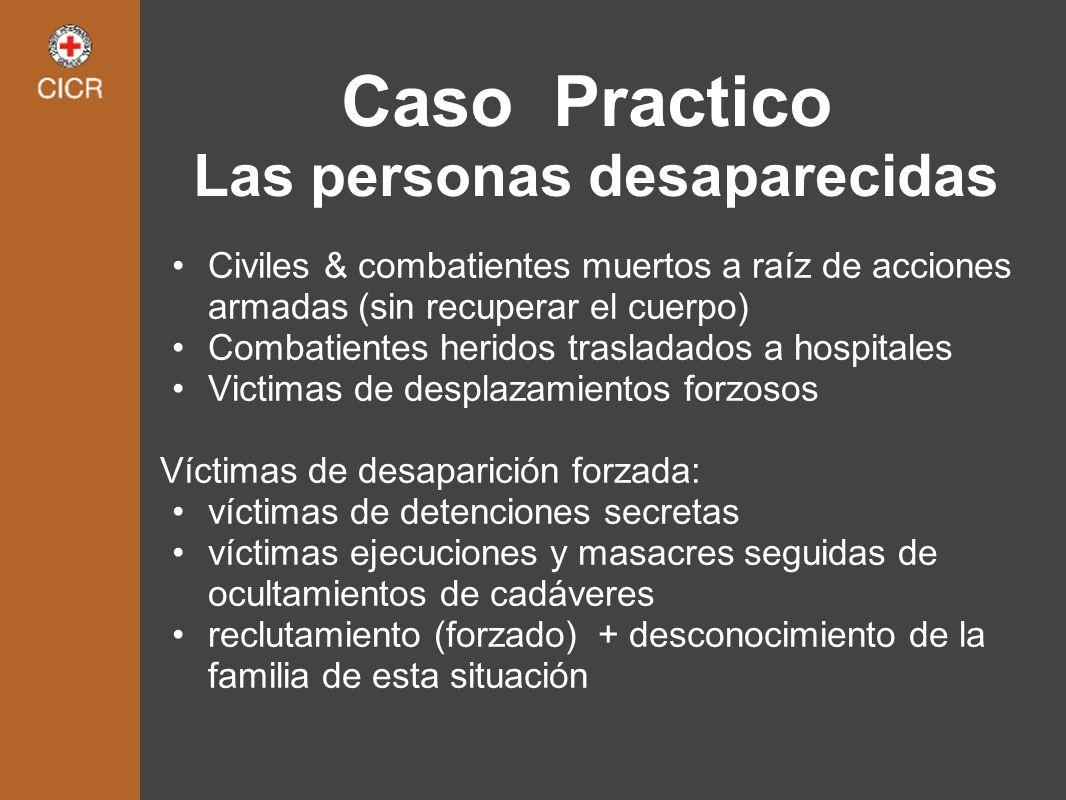 Caso Practico Las personas desaparecidas