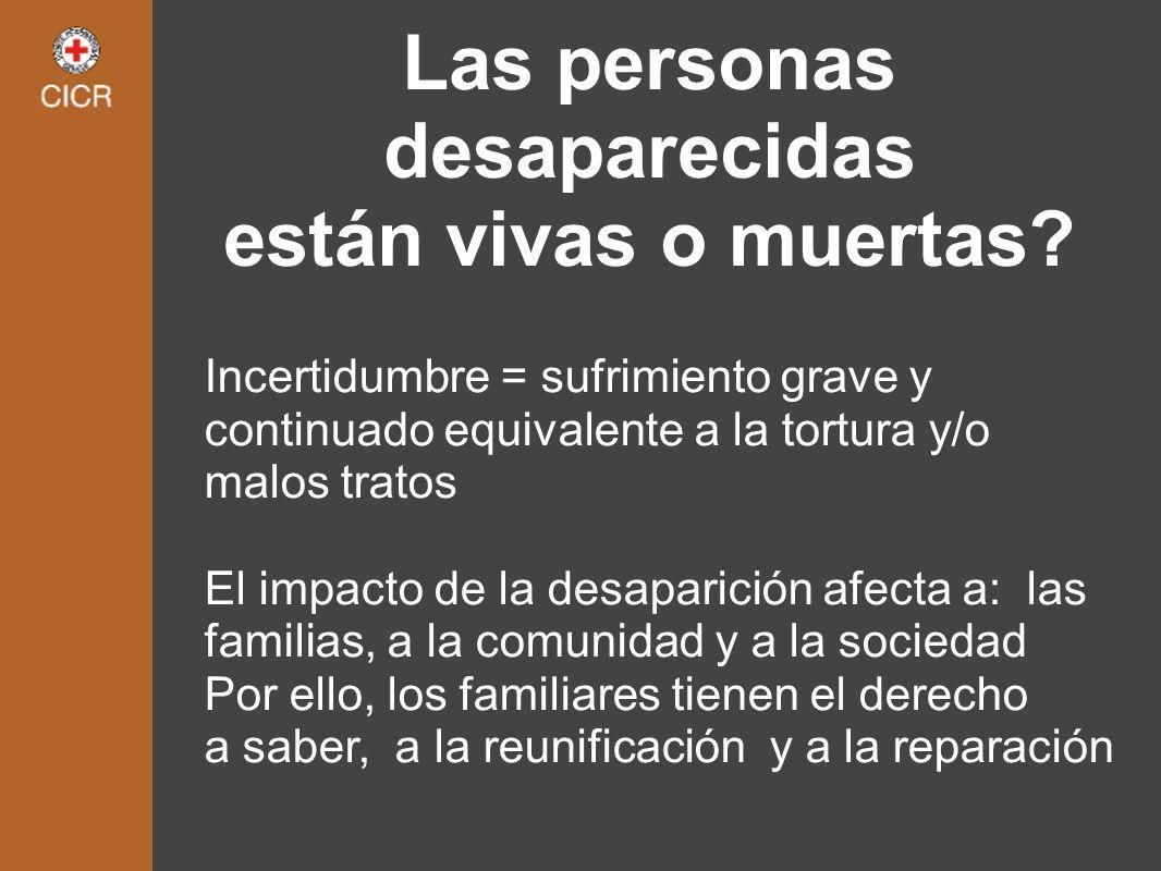 Las personas desaparecidas están vivas o muertas
