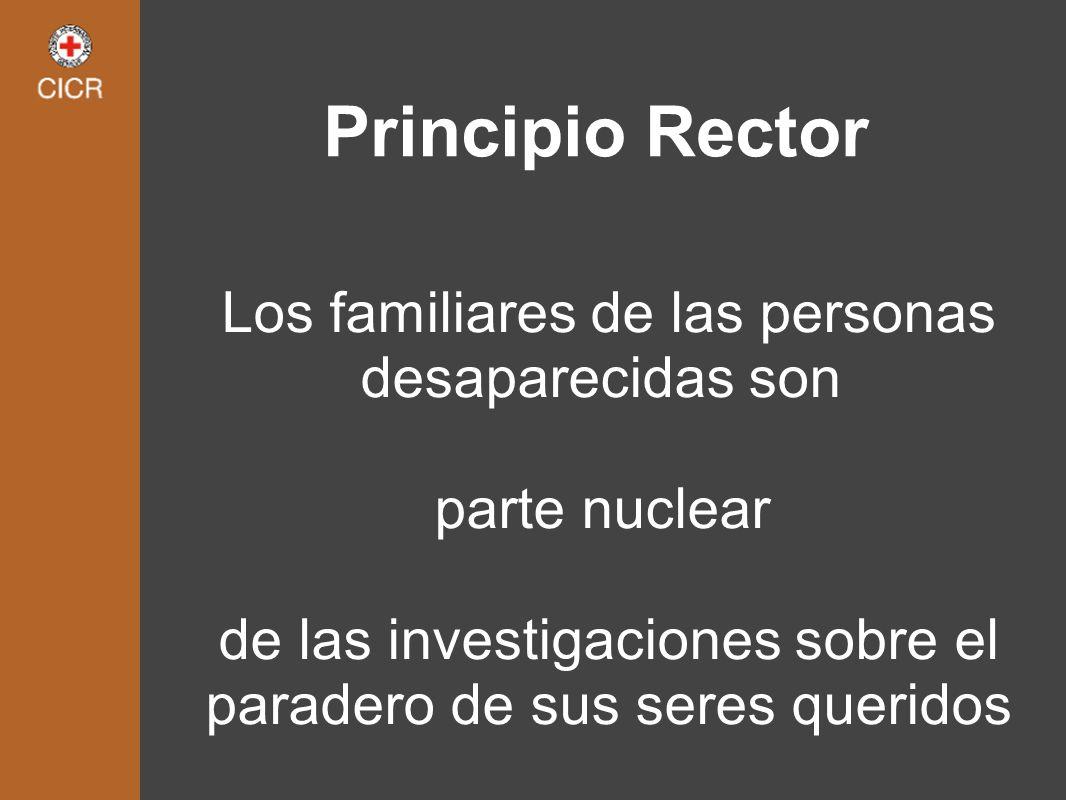Principio Rector Los familiares de las personas desaparecidas son