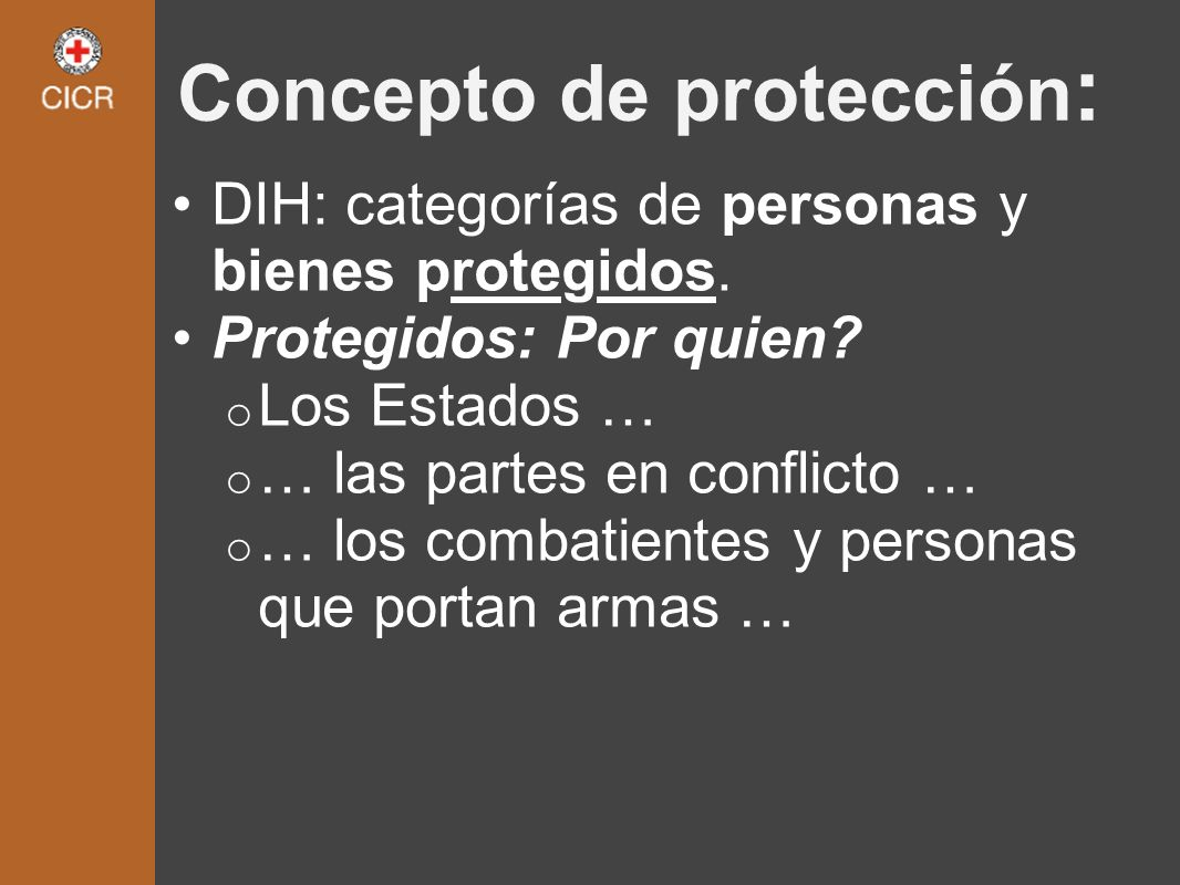 Concepto de protección: