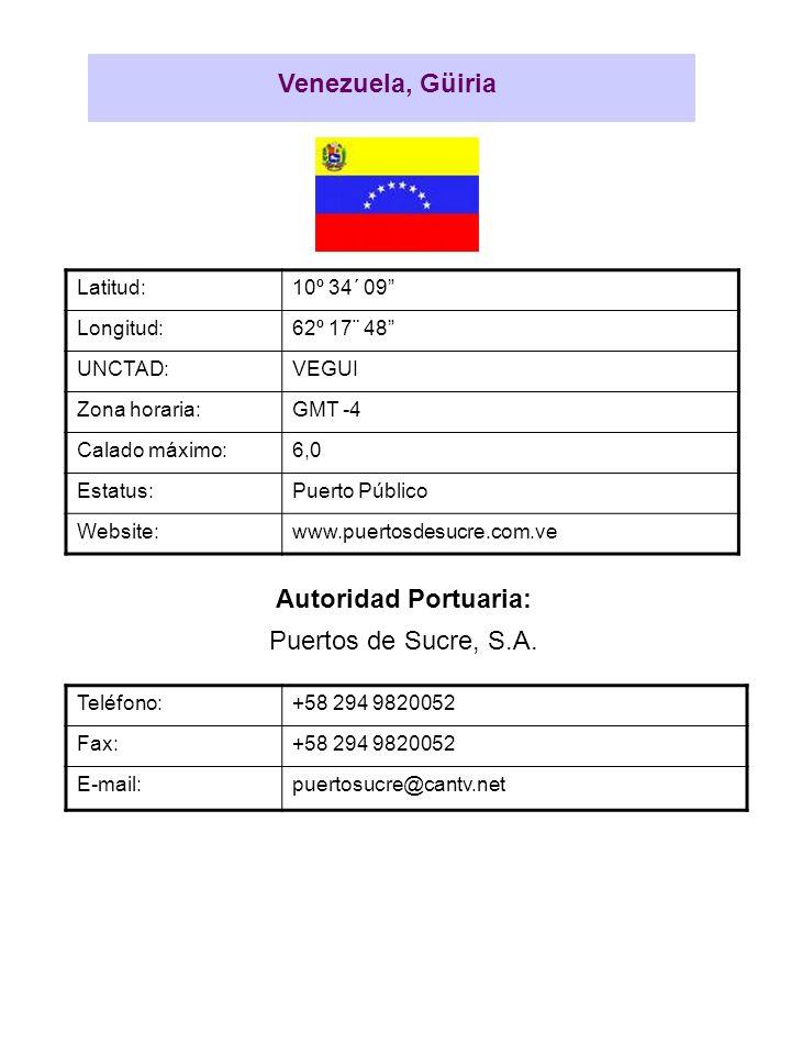 Venezuela, Güiria Autoridad Portuaria:
