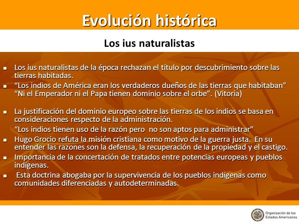 Evolución histórica Los ius naturalistas