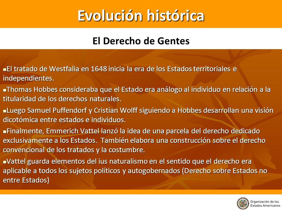 Evolución histórica El Derecho de Gentes