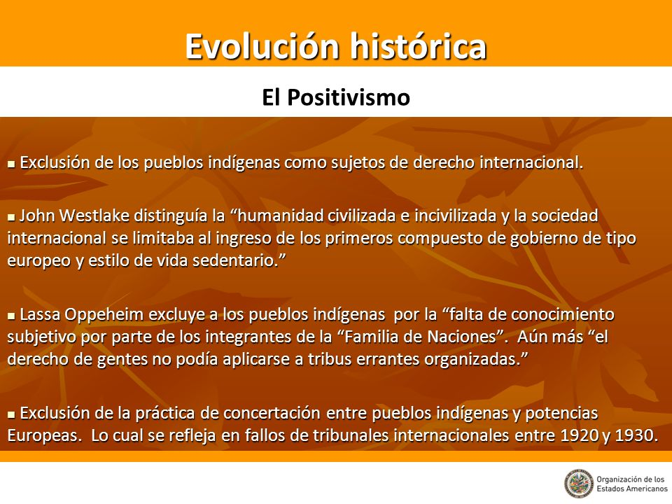 Evolución histórica El Positivismo